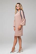 Женское платье с расклешенными манжетами и кружевом (Альфреда lzn), фото 2