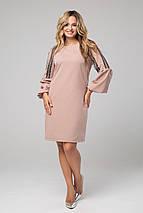 Женское платье с расклешенными манжетами и кружевом (Альфреда lzn), фото 3