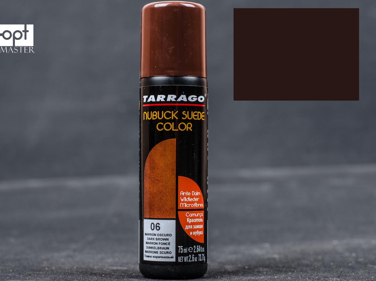Краска для замши и нубука темно-коричневая жидкая Tarrago Nubuck Suede Color, 75 мл,TCA18 (06)