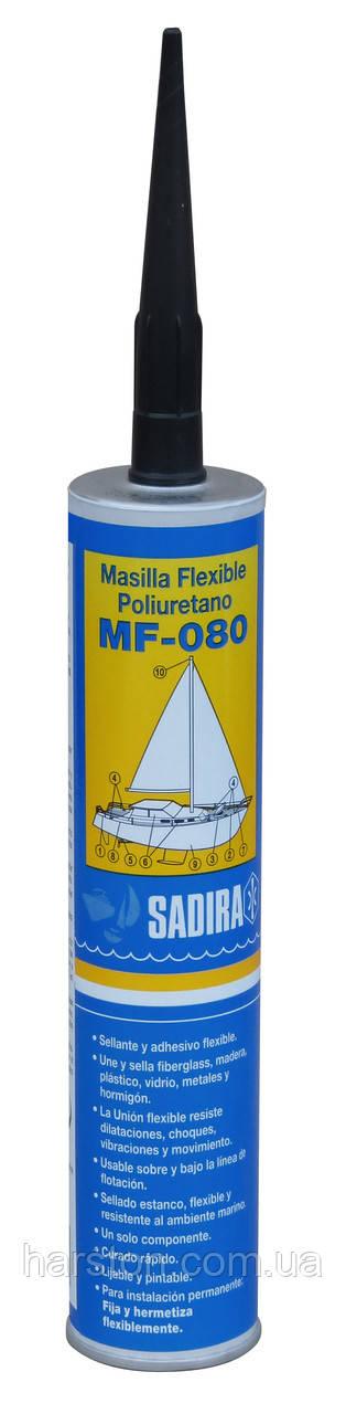 Морской полиуретановый герметик Sadira MF-080 белый/черный