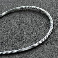 Трос 1мм. DIN 3052 (1x7)  (оцинкованный W1) (бухта 200м.) APRO