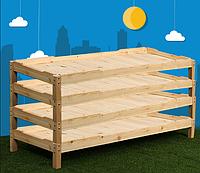 Кровать для детского сада, штабелируемая