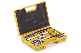 Набор насадок (инструментов) торцевых с трещоткой стандарт CrV 1/2 (22 шт.) СИЛА