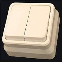 Misya выключатель 2-ой наружный кремовый