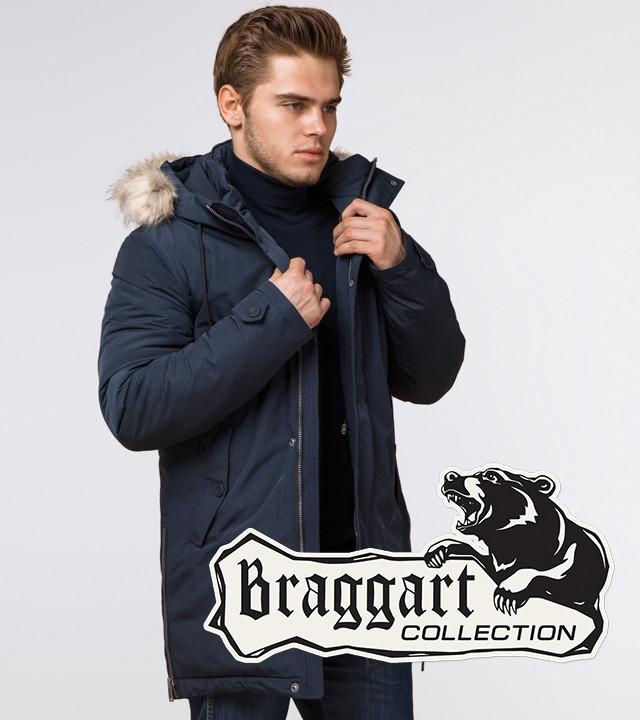 Braggart Arctic 20758 | Мужская парка с опушкой синяя р. 54