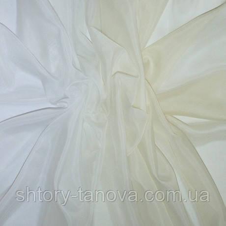 Тюль вуаль с блеском карнавал, переход цвета, ваниль
