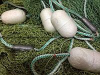 Сеть рыболовная для промышленного лова, бредень, невод рыбацкий оснащенный из нитки
