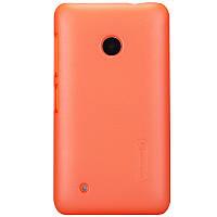 Чехол Nillkin для Nokia Lumia 530 оранжевый (+пленка)