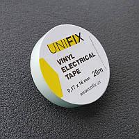 Изолента 0,17ммx18ммx20м белая (универсальная) (кратно упаковке — 10 шт.) UNIFIX
