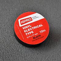 Изолента 0,14ммx17ммx10м черная (универсальная) (кратно упаковке — 10 шт.) APRO