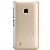 Чехол Nillkin для Nokia Lumia 530 золотистый (+пленка)