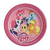 """Тарілки паперові одноразові """"Літл Поні, My Little Pony"""" 10 шт"""