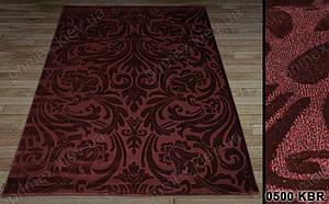 Синтетический ковер Tibet растительный орнамент бордовый