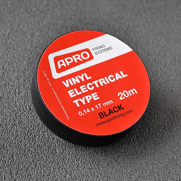 Изолента 0,14ммx17ммx25м черная (универсальная) (кратно упаковке — 10 шт.) APRO