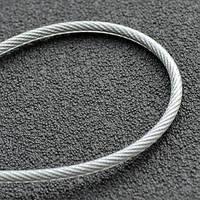 Трос 5мм. DIN 3055 (6x7+FC) (оцинкованный W1, в ПВХ оплетке - 1мм.) (бухта 100м.) APRO