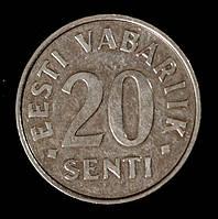 Монета Эстонии 20 сентов 2004 г.