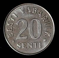 Монета Эстонии 20 сентов 2006 г.