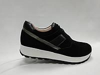 Замшевые туфли на танкетке. Кроссовки. Маленькие размеры ( 33 - 35 ).