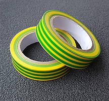 Изолента 0,14 мм x 17 мм x 10 м желто-зеленая (универсальная) (кратно упаковке — 10 шт.) APRO
