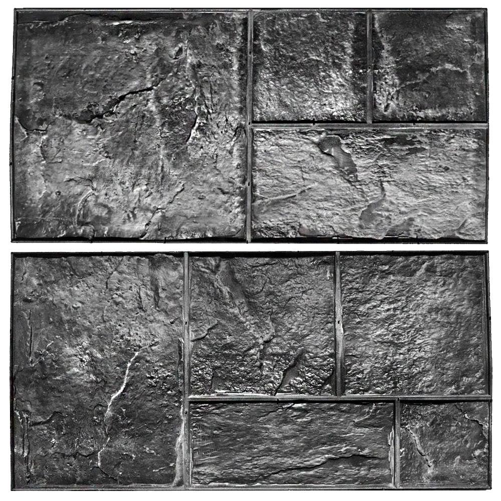 """Комплект штампов """"Сланец"""" из резины S = 1 м². Формы для оттиска на бетоне. Штампы для печатного бетона."""