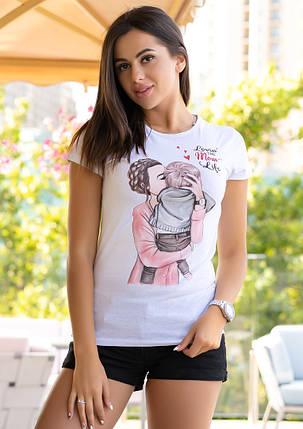 """Женская футболка с рисунком """"One Love"""", фото 2"""
