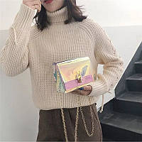 Женская сумочка голограмма через плечо, Жіноча сумка голограммна, Женский клатч, фото 1