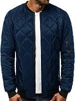 Куртка мужская демисезонная / стеганая осенняя весенняя / синяя, фото 1