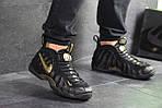 Мужские кроссовки Nike Air Foamposite Pro (черно-золотистые), фото 4