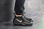 Мужские кроссовки Nike Air Foamposite Pro (черно-золотистые), фото 7