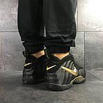 Мужские кроссовки Nike Air Foamposite Pro (черно-золотистые), фото 6