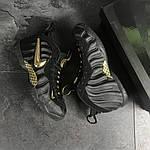 Мужские кроссовки Nike Air Foamposite Pro (черно-золотистые), фото 8