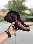 Мужские кроссовки Nike Air Foamposite Pro (черно-медные), фото 2