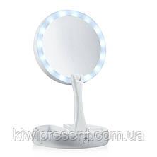 Зеркало с подсветкой складное, My Foldaway Mirror, двухстороннее, фото 2