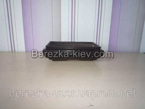 Плошка керамическая прямоугольная Индия (шоколад)