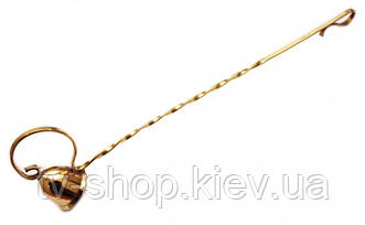 Тушилка для свечей бронзовая (25,5х3,5х6 см)