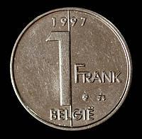 Монета Бельгии 1 франк 1997 г. Альберт II