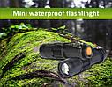 Мини светодиодный фонарик 1000LM Q5 с функцией зума и 3 режимами. Металлический фонарик. Flashlight., фото 2