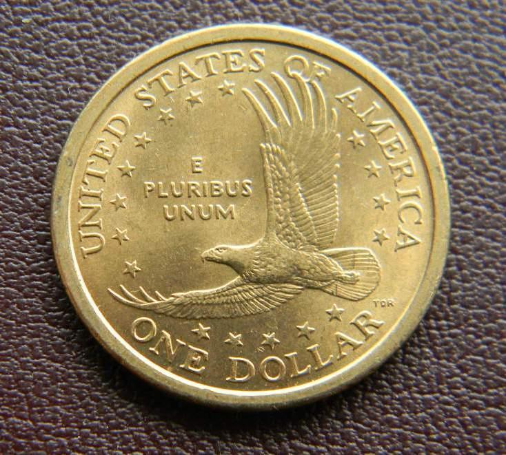 США 1 долар 2000 р. Сакагавея. Ширяючий орел