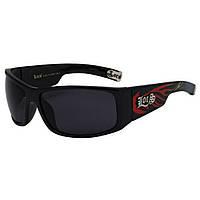 Мужские солнцезащитные очки маска с огнями Locs #055