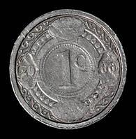 Монета Нидерландских Антильских островов 1 цент 2006 г., фото 1