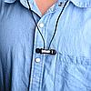 Беспроводные наушники Bluetooth. Вакуумные беспроводные наушники с микрофоном и магнитным креплением Синий - Фото