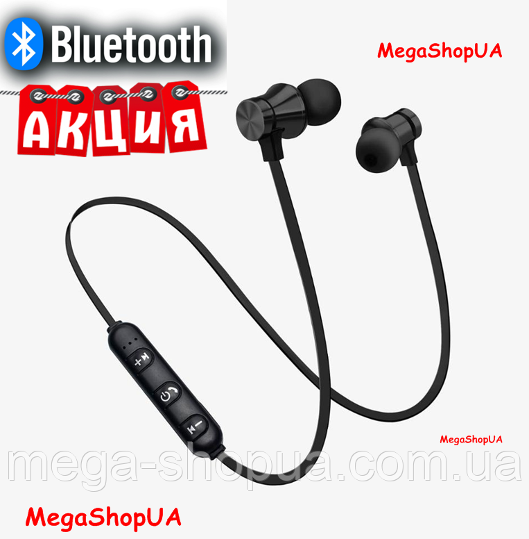 Беспроводные наушники Bluetooth. Вакуумные беспроводные наушники с микрофоном и магнитным креплением Черный
