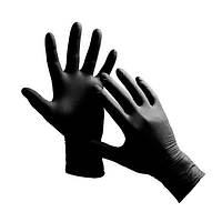 Нитриловые перчатки 100 шт S black GLOBAL FASHION