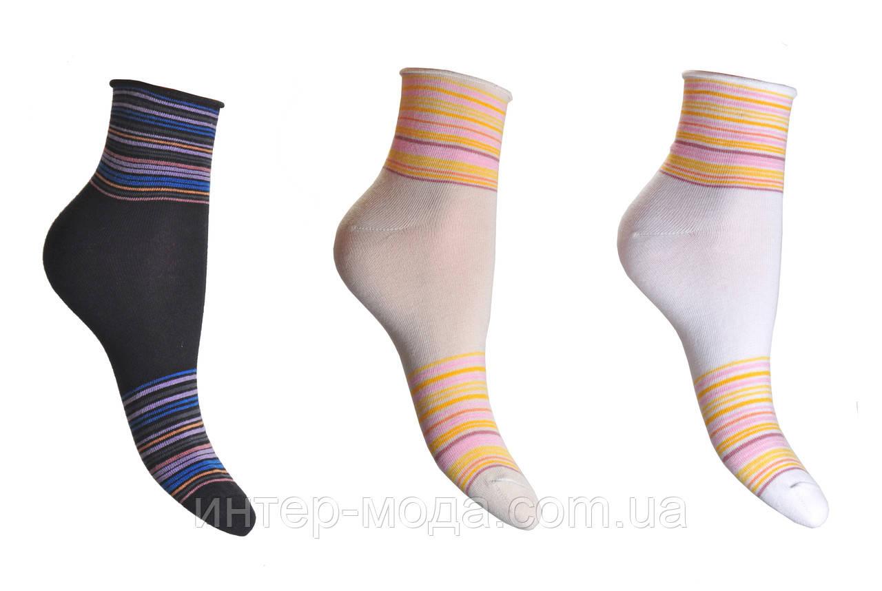 Носки женские медецинские без резинки с рисунком р.23 арт.282