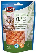 Кубики с сыром и курицей лакомство для кошек Trixie