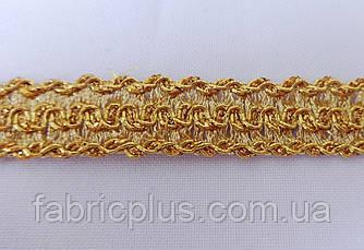 Тесьма  золото 1.5 см. двухсторонняя