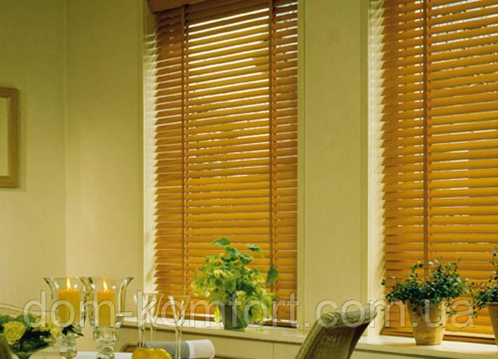 Жалюзи для декора окна деревянные HONEY A02  50 мм