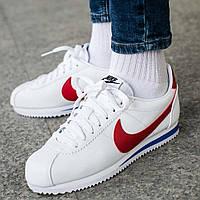 "Оригинальные кроссовки Nike Wmns Classic Cortez Leather ""Forrest Gump"" (807471-103)"