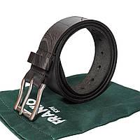 Ремінь шкіряний чорний з нержавіючою пряжкою | Nata flowers big black belt | FRANKOЮ Ручная работа