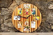 Годинники настінні - фото рамка Дизайнерські Настінні Loft, Ручна робота EcoWalnut